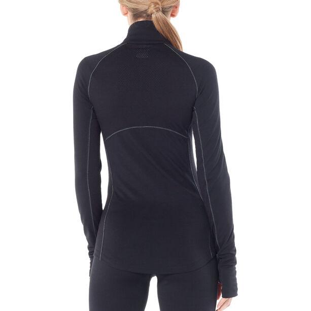 Icebreaker 200 Zone LS Half Zip Shirt Dam black/mineral