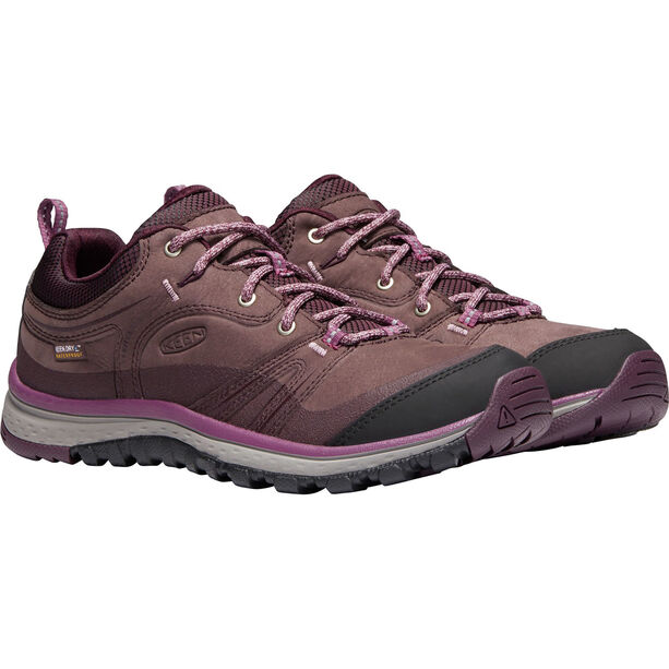 Keen Terradora Leather WP Shoes Dam peppercorn/wine