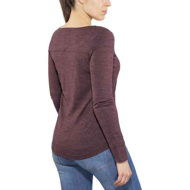 Alchemy Equipment Merino Essential LS Tee Dam wine marle