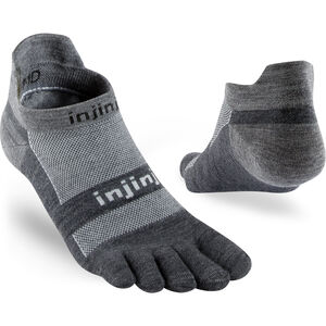 Injinji Run LW Sneakersocks No-Show Charcoal Charcoal