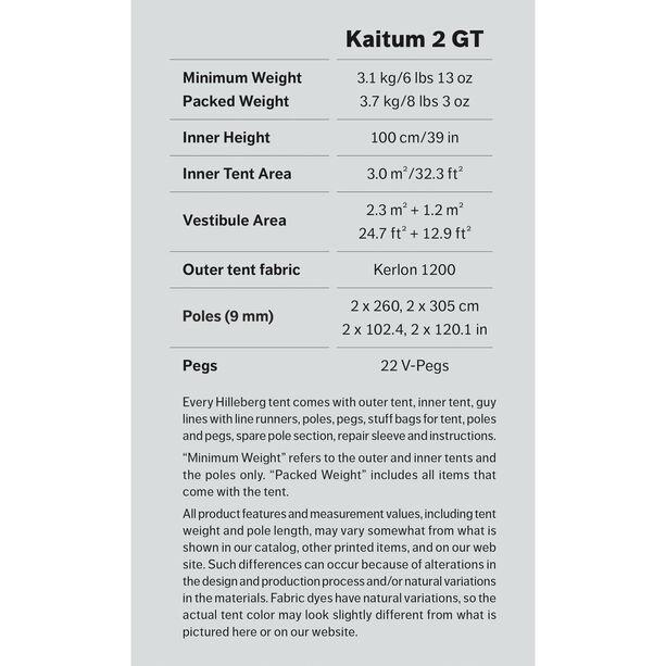 Hilleberg Kaitum 2 GT röd