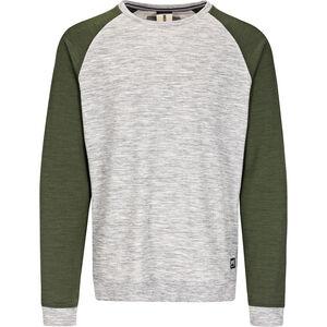 super.natural Essential Raglan Crew Sweater Herr ash melange/duffel bag 3d ash melange/duffel bag 3d