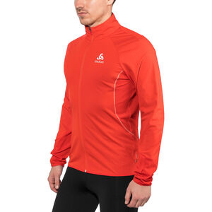 Odlo Zeroweight Windproof Warm Jacket Herr fiery red fiery red