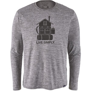 Patagonia Cap Cool Daily Graphic LS Shirt Herr live simply home/feather grey live simply home/feather grey