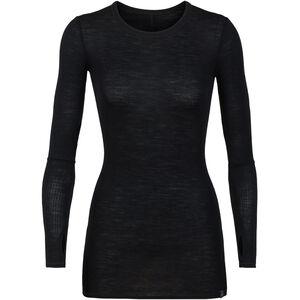 Icebreaker Luxe Rib LS Crewe Shirt Dam black black