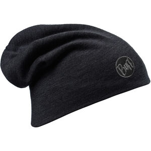 Buff Heavyweight Merino Wool Hat solid black