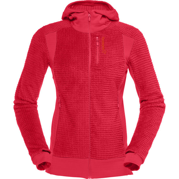 Norrøna Lofoten Alpha Raw Zip Hoodie Dam rebel red