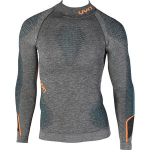 UYN Ambityon Melange UW LS Turtle Neck Shirt Herr black melange/atlantic/orange shiny black melange/atlantic/orange shiny