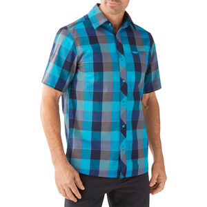 Smartwool Everyday Exploration Retro Plaid SS Shirt Herr sea blue sea blue