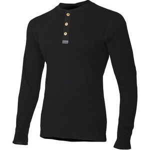 Aclima WarmWool Granddad Shirt Herr jet black jet black