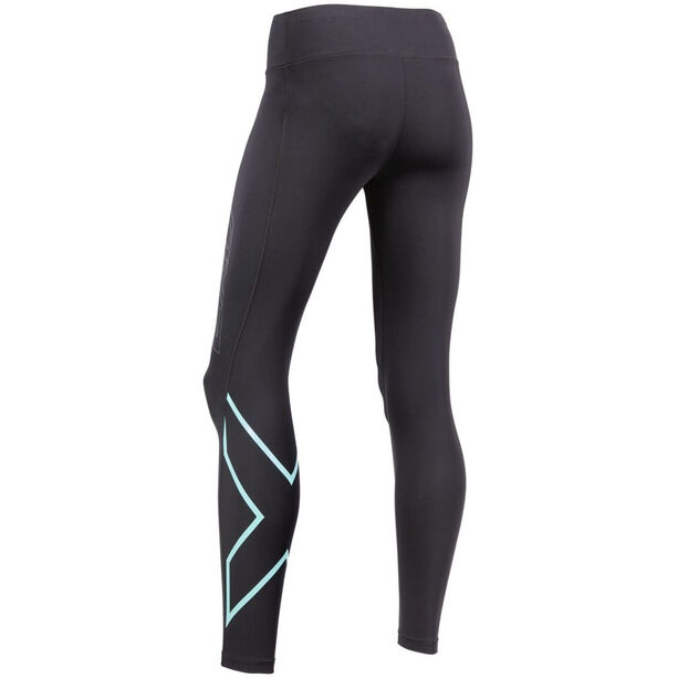 2XU Bonded Mid-Rise Compression Tights Long Dam black/aruba blue