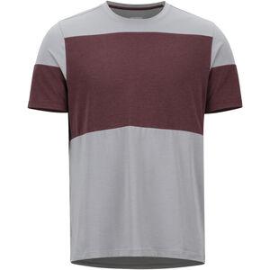 Marmot Gualala Point SS Shirt Herr grey storm/burgundy grey storm/burgundy