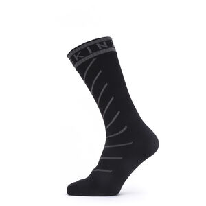 Sealskinz Waterproof Warm Weather Mid Socks with Hydrostop Black/Grey Black/Grey