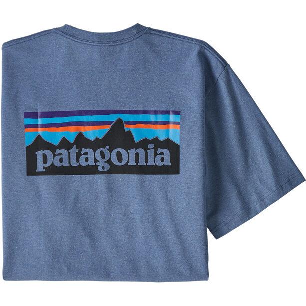 Patagonia P-6 Logo Responsibili Tee Herr Woolly Blue