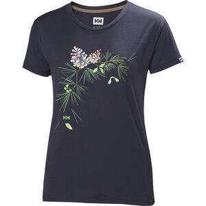 Helly Hansen Skog Graphic T-shirt Dam graphite blue graphite blue