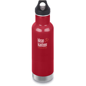 Klean Kanteen Classic Vacuum Insulated Bottle Loop Cap 592ml mineral red mineral red