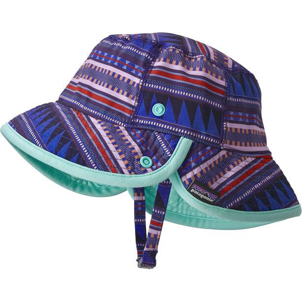 Patagonia Little Sol Hat Barn belay stripe: imperial blue