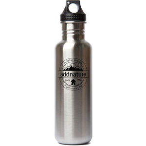 addnature Stainless Steel Bottle 800ml silver/addnature print silver/addnature print