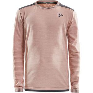 Craft Fuseknit Comfort Round Neck LS Shirt Barn touch/dark grey melange touch/dark grey melange