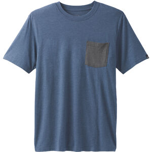 Prana Pocket Shortsleeve T-Shirt Herr denim heather denim heather