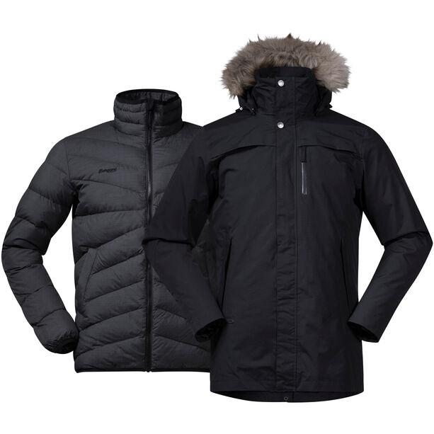 Bergans Sagene 3in1 Jacket Herr Black/Solid Charcoal