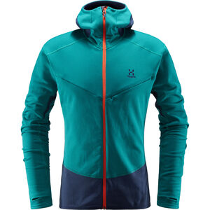 Haglöfs L.I.M Touring Hood Jacket Herr alpine green/tarn blue alpine green/tarn blue
