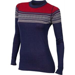 Aclima DesignWool Marius Crew Neck Shirt Dam patriot blue/nature/tango red patriot blue/nature/tango red