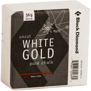 Black Diamond Solid White Gold Block 56g