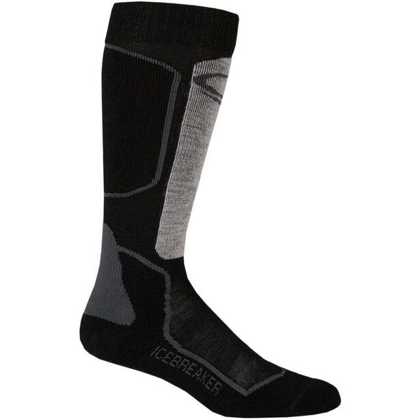 Icebreaker Ski+ Light OTC Socks Herr oil/black/silver