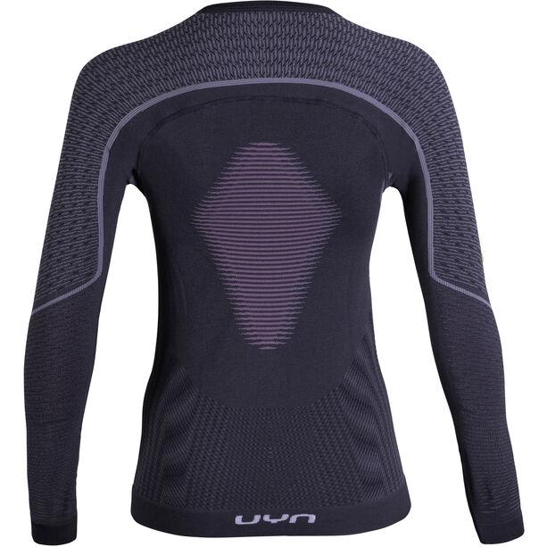 UYN Visyon UW LS Shirt Dam charcoal/raspberry/white