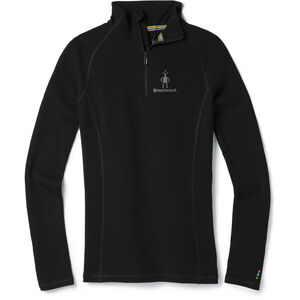 Smartwool Merino 200 Baselayer 1/4 Zip Dam Black Black