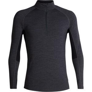 Icebreaker 200 Zone LS Half Zip Shirt Herr jet heather/black jet heather/black