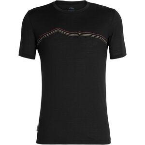 Icebreaker Tech Lite Rangitoto Triple SS Crewe Shirt Herr black black