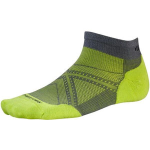 Smartwool PhD Run Light Elite Low Cut Socks graphite/sw green graphite/sw green