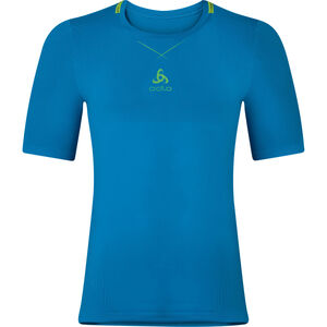Odlo Ceramicool Seamless Shirt S/S Crew Neck Herr blue jewel-safety yellow blue jewel-safety yellow