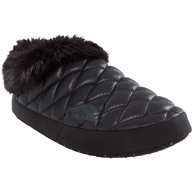 The North Face ThermoBall Tent Mule Faux Fur IV Shoes Dam shiny tnf black/beluga grey