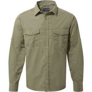Craghoppers Kiwi Long Sleeved Shirt Herr pebble pebble