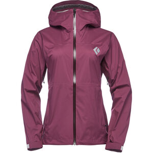 Black Diamond Stormline Stretch Rain Shell Jacket Dam plum plum