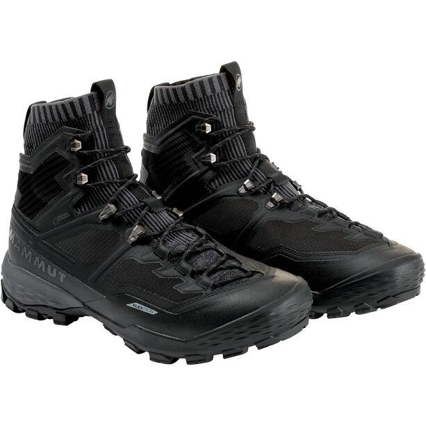 Mammut Ducan Knit High GTX Shoes Herr black-titanium