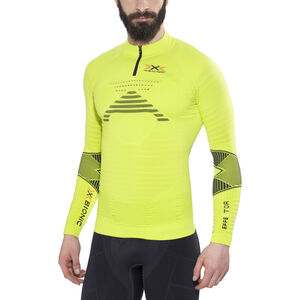 X-Bionic Trail Running Effektor Zip-Up Shirt LS Herr green lime/black green lime/black
