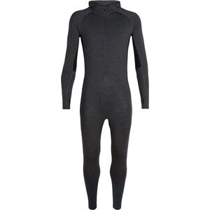 Icebreaker 200 Zone One Sheep Suit Herr Jet Heather/Black Jet Heather/Black
