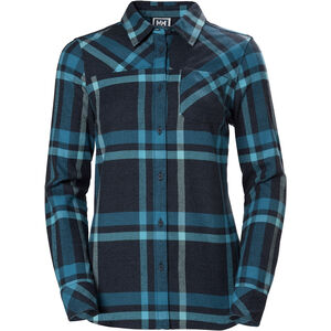 Helly Hansen Classic Check LS Shirt Dam north sea blue plaid north sea blue plaid