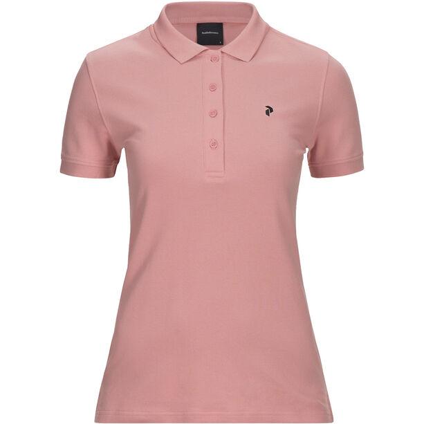 Peak Performance Classic Pique Shirt Dam warm blush