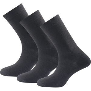 Devold Daily Light Socks 3-Pack Dam black black