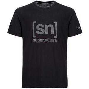 super.natural Essential I.D. Tee Herr jet black/print jet black/print