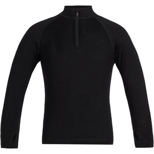 Icebreaker 260 Tech LS Half Zip Shirt Barn black black