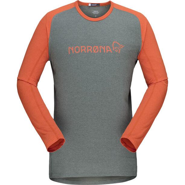 Norrøna Fjørå Equaliser Lightweight Long Sleeve Shirt Herr castor grey/pur