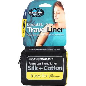 Sea to Summit Silk/Cotton Travel Liner Mummy Tapered navy blue navy blue