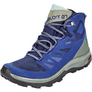 Salomon OUTline GTX Mid Shoes Herr medieval blue/castor gray/green milieu medieval blue/castor gray/green milieu