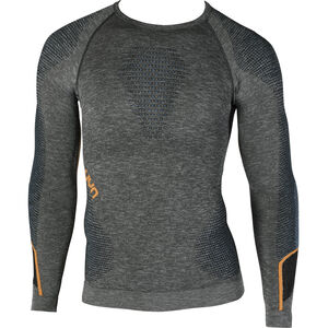 UYN Ambityon Melange UW LS Shirt Herr black melange/atlantic/orange shiny black melange/atlantic/orange shiny